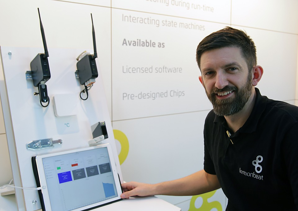 At the IT2Industry we demonstrated how to easily optimize processes within a production facility using our technology. Photo: Dennis Knake/Lemonbeat GmbH