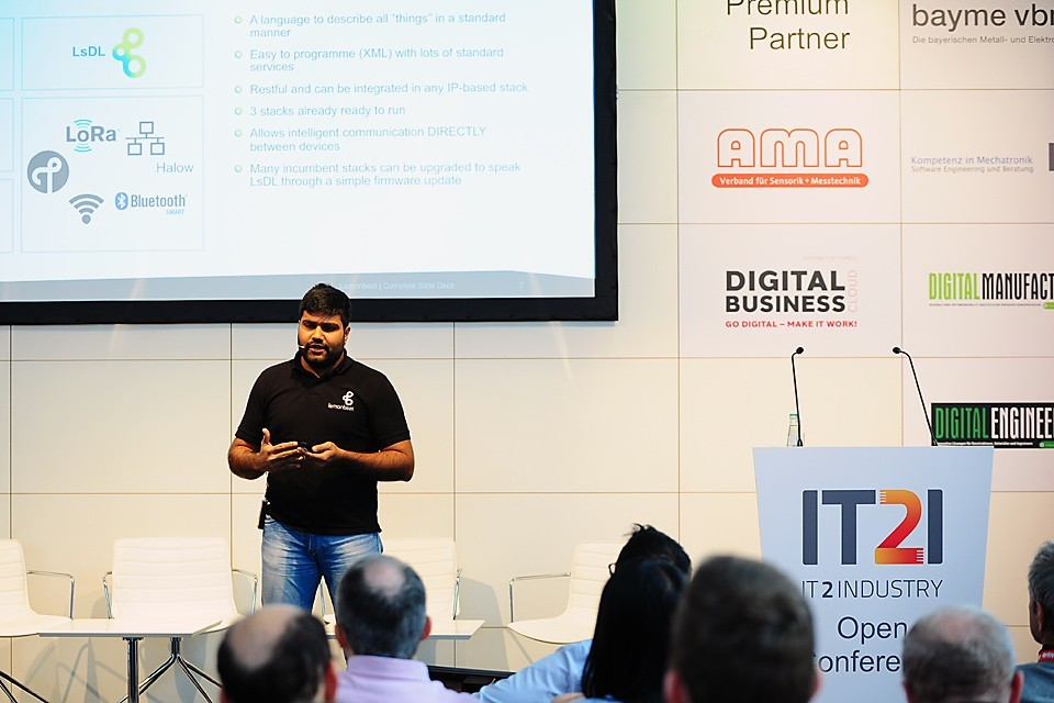 Uday Davuluru, Standardization Manager at Lemonbeat, talked about the challenges we face in the IIoT. Photo: Lemonbeat GmbH
