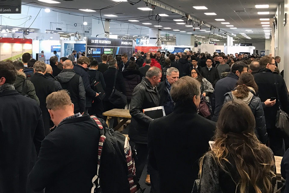 Crowd at IoTTechExpo