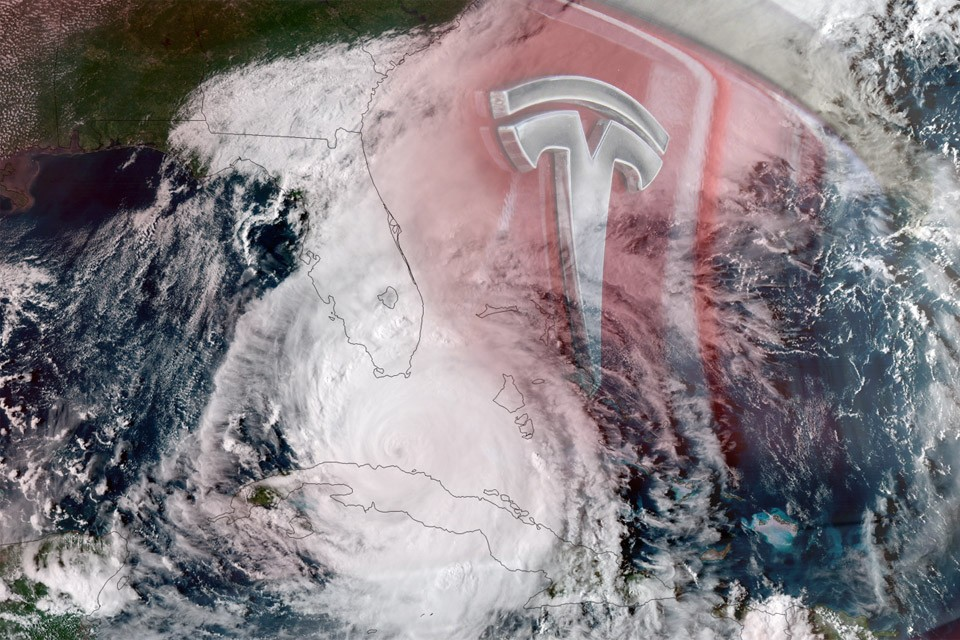 OTA Update: Hurricane Irma and Tesla Logo