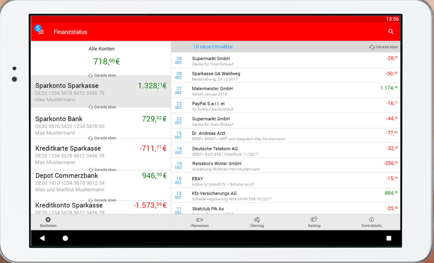 Banken können Kundendaten zur Entwicklung von Dashboards nutzen.