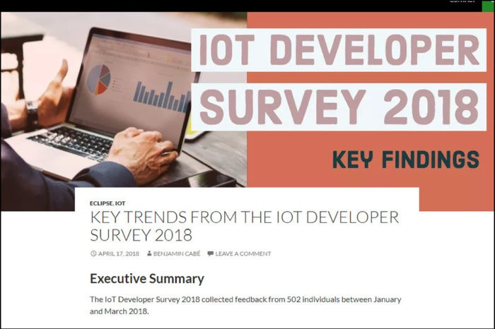 IoT Developer Survey 2018: AWS, Azure and MQTT in the lead