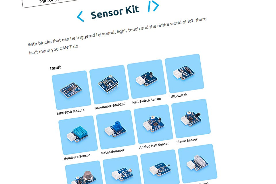 RasPad Sensors