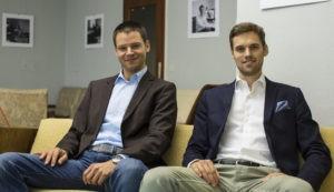 Startup Gründer Lukas Pilat (l.) und Robert Kopka
